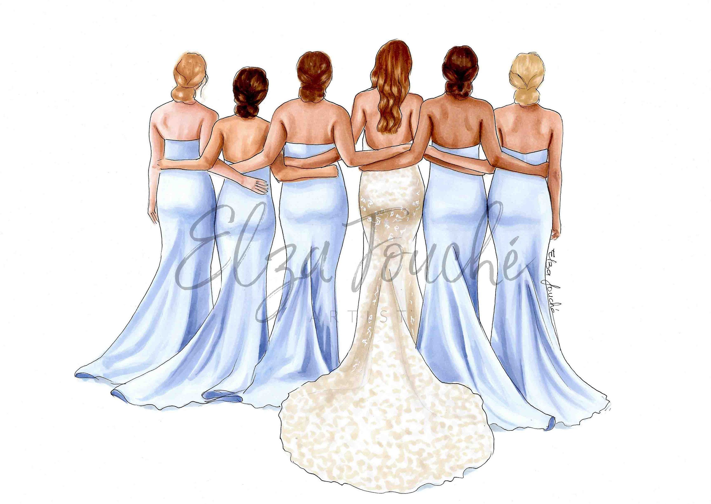Bridesmaid Illustration Bridesmaid Best Friend Bridesmaid