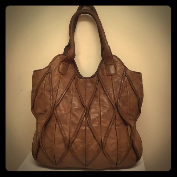 Lucky Penny Leather Handbag Cute Design On The Front Brand Featured At Anthropologie Bags