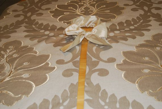Stunning Sophisticated Tan and Gold Christmas Tree Skirt. Holidays by Refined Concepts on Etsy