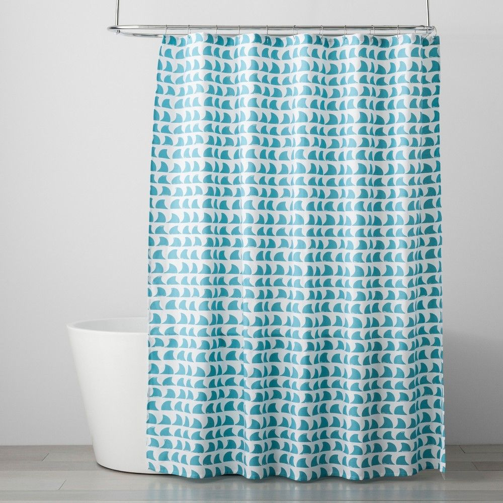 Fin Festival Shower Curtain