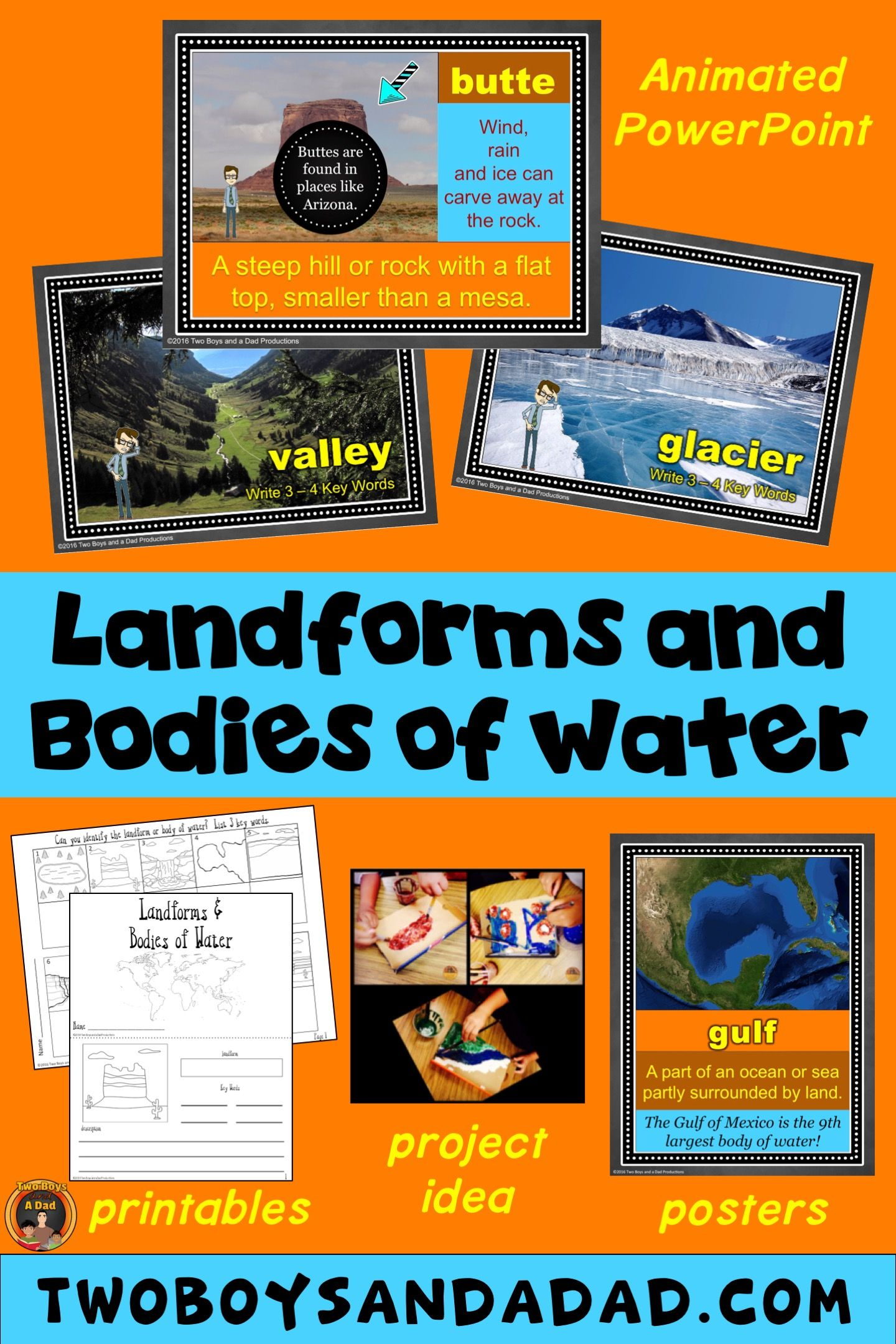 Landforms And Bo S Of Water Powerpoint Posters