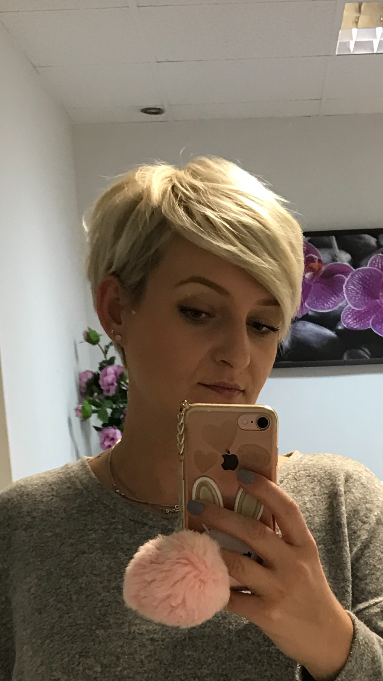 Pixie short haircut, love it absolutely easy to style