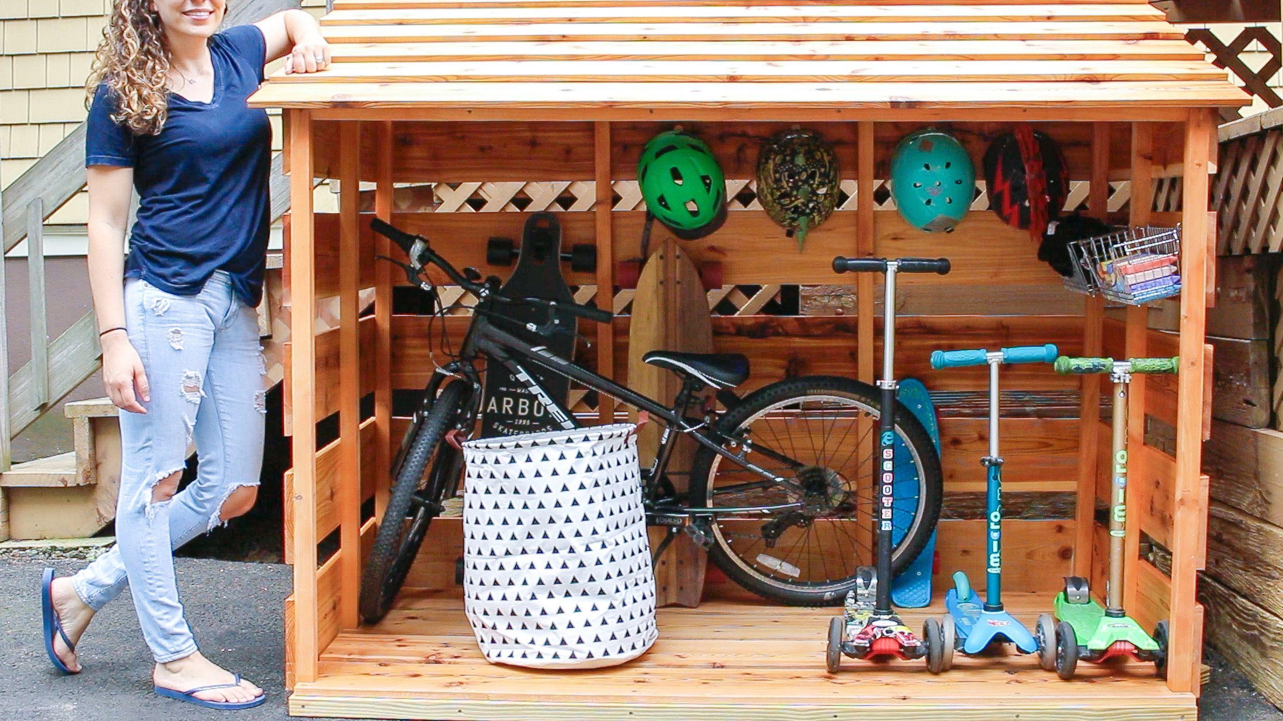 Diy Bike Storage Shed Kids Bike Storage Outdoor Bike Storage