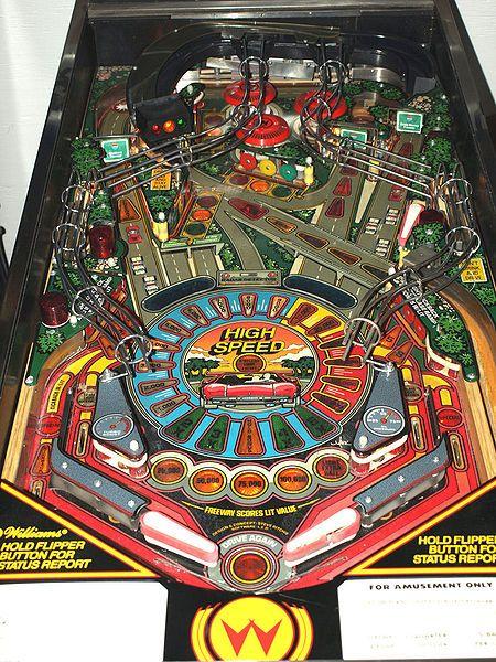 High Speed Playfield Pinball Machine Pinball Pinball Art