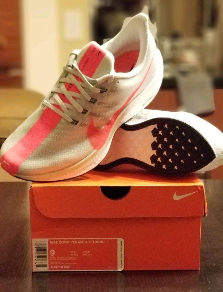 meet 6bbc3 87caf Nike Zoom X Pegasus 35 Turbo Size 9 Grey Hot Punch AJ4114 ...