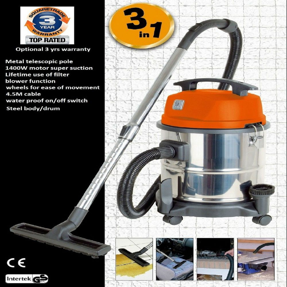Details about Wet And Dry Vacuum Cleaner Blower Stainless