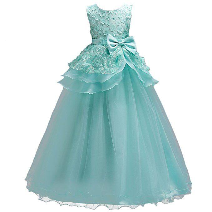 Geschäft am besten verkaufen gut aussehen Schuhe verkaufen Tolles Blumenmädchen Kleid in Türkis. Das ärmellose Oberteil ...