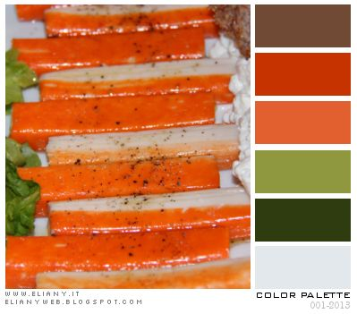 Color Palette: Insalata, Surimi