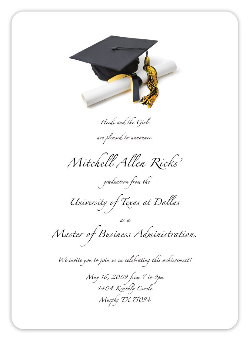 Free Printable Graduation Invitation Templates 2013 2017 – Graduation Invite Templates Free