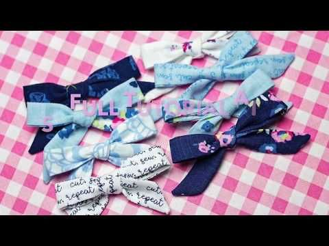How To Make a Simple Bow Sewing Tutorial | DIY