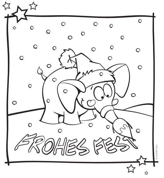 Ausmalbilder Frohe Weihnachten.Kostenloses Ausmalbild Frohes Fest Zum Download Ein