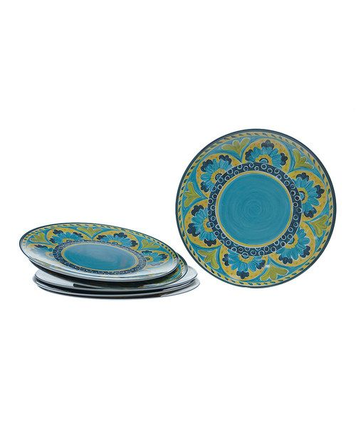 Another great find on #zulily! Mexican Tile Melamine Dinner Plate - Set of Six  sc 1 st  Pinterest : mexican plate set - pezcame.com