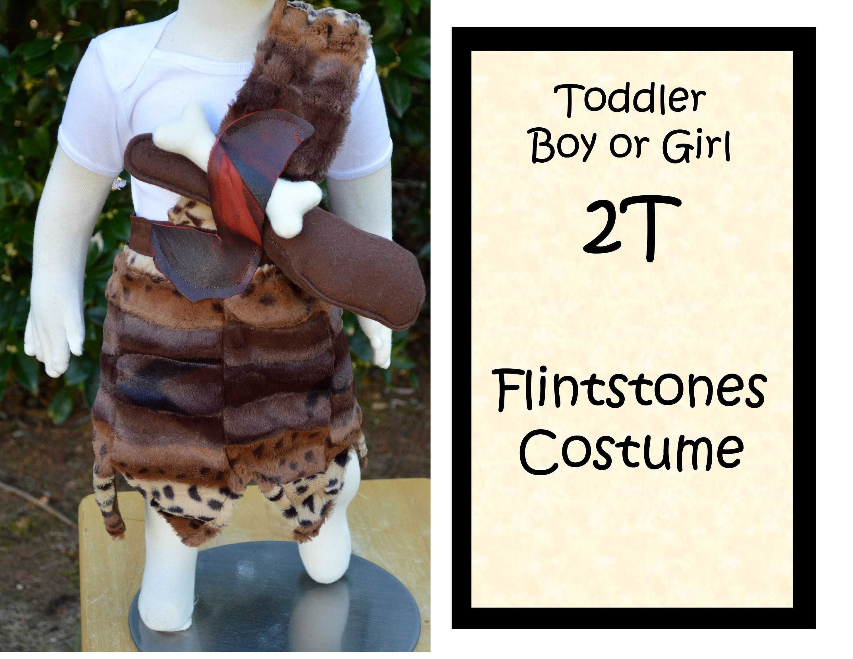 Toddler 2T - Fabulous Pebbles or Bam Bam Flintstones Costume - Boy or Girl, Plush Fur, Soft Bat and Bone, Adjustable Fit - Halloween #pebblesandbambamcostumes Toddler 2T Fabulous Pebbles or Bam Bam Flintstones Costume | Etsy #pebblesandbambamcostumes