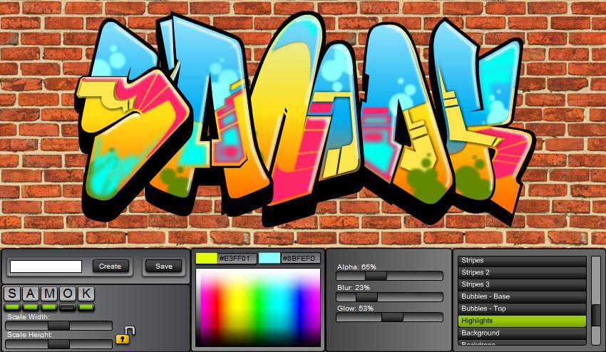 graffiti creator Samok (With images) Graffiti creator