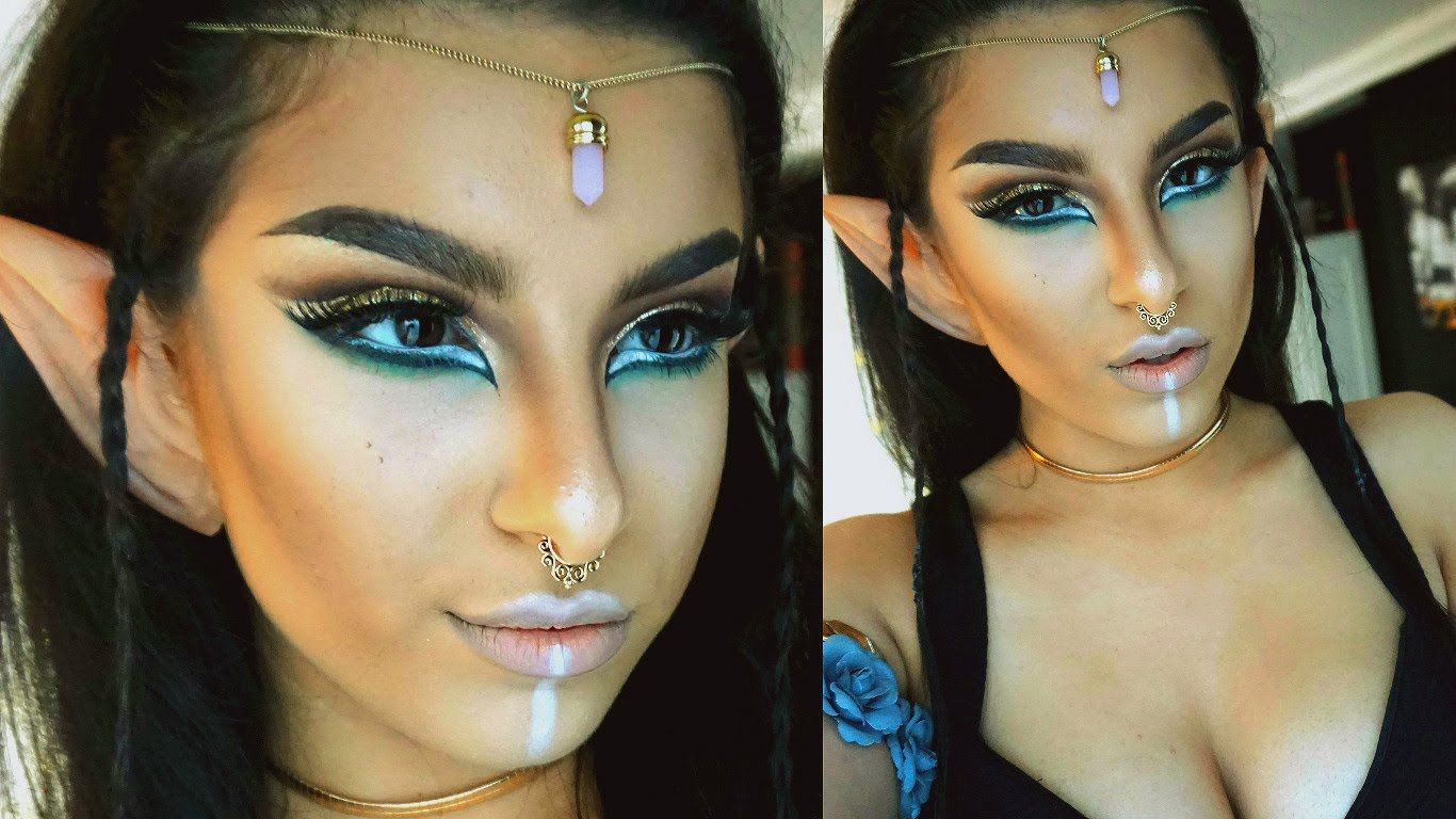 Wood Elf Makeup Tutorial  Halloween   Makeup By Leyla  Makeup