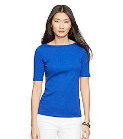 $13.20 - Lauren Ralph Lauren® Petites' Stretch Cotton Boatneck Tee