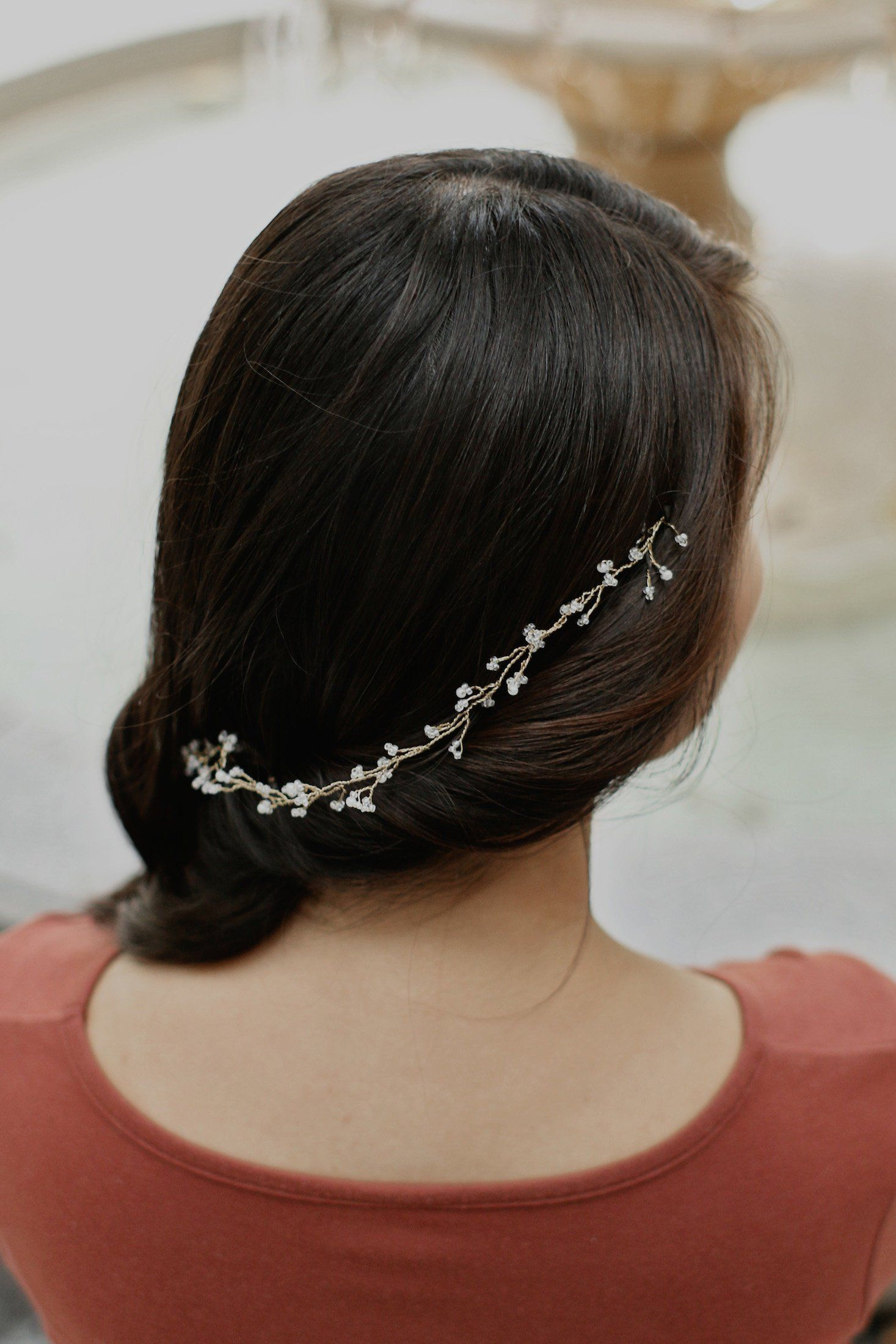 Dainty Gold Hair Vine Wedding Hair Vine Wedding Hair Accessory