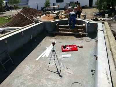 Paso 6 Escalera De Obra Construcci N De Una Piscina