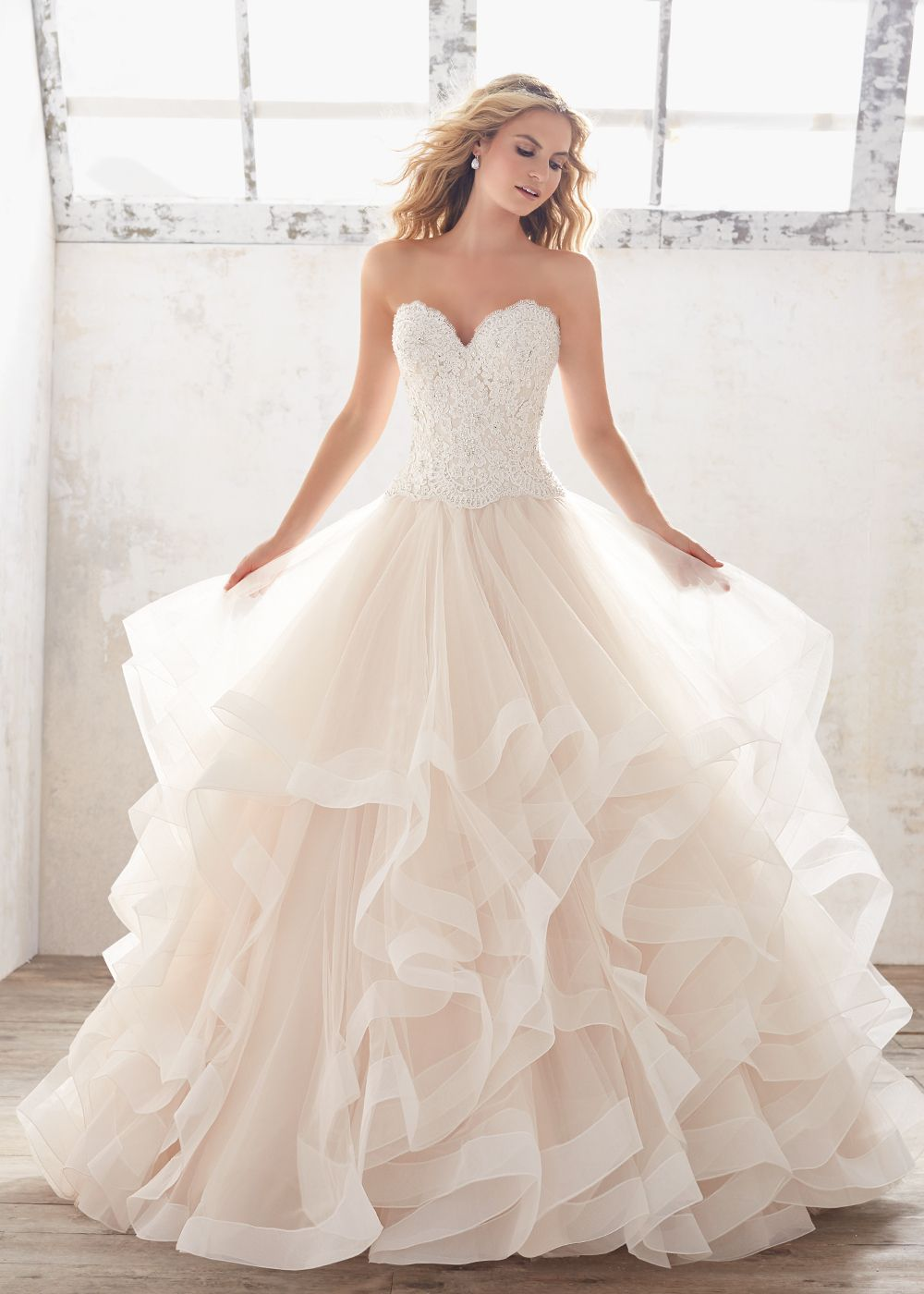 5 of our fave fairy tale ball gowns with a twist ball for Fairytale ball gown wedding dresses