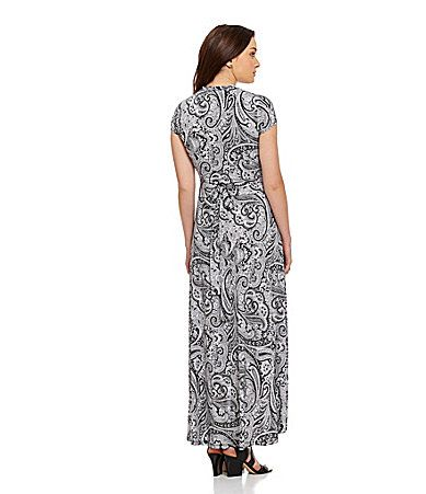 Mlchael Michael Kors Paisleyprint Maxi Dress Dillards My Special