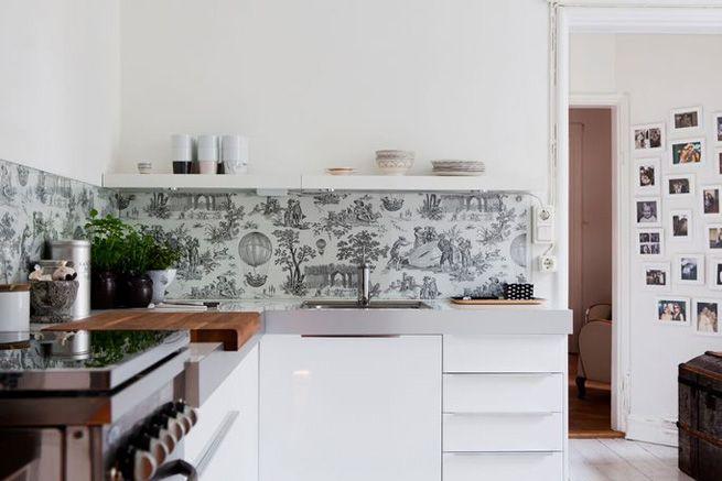 Papel Pintado Para Cocinas Modernas | Papel Pintado Para La Cocina Papel Pintado En La Cocina