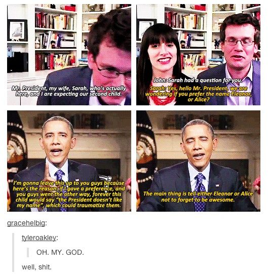 Our President And John Green Everyone John Green John Green