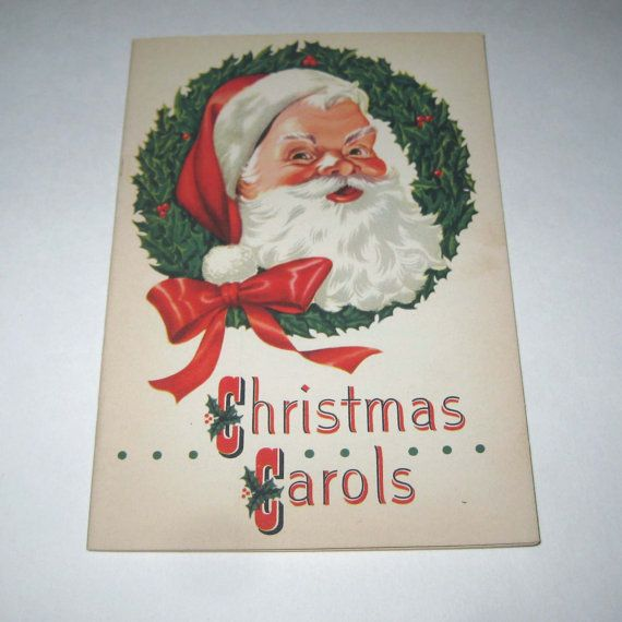 Vintage 1950s Christmas Carols Song Book | Sing We Now of ...