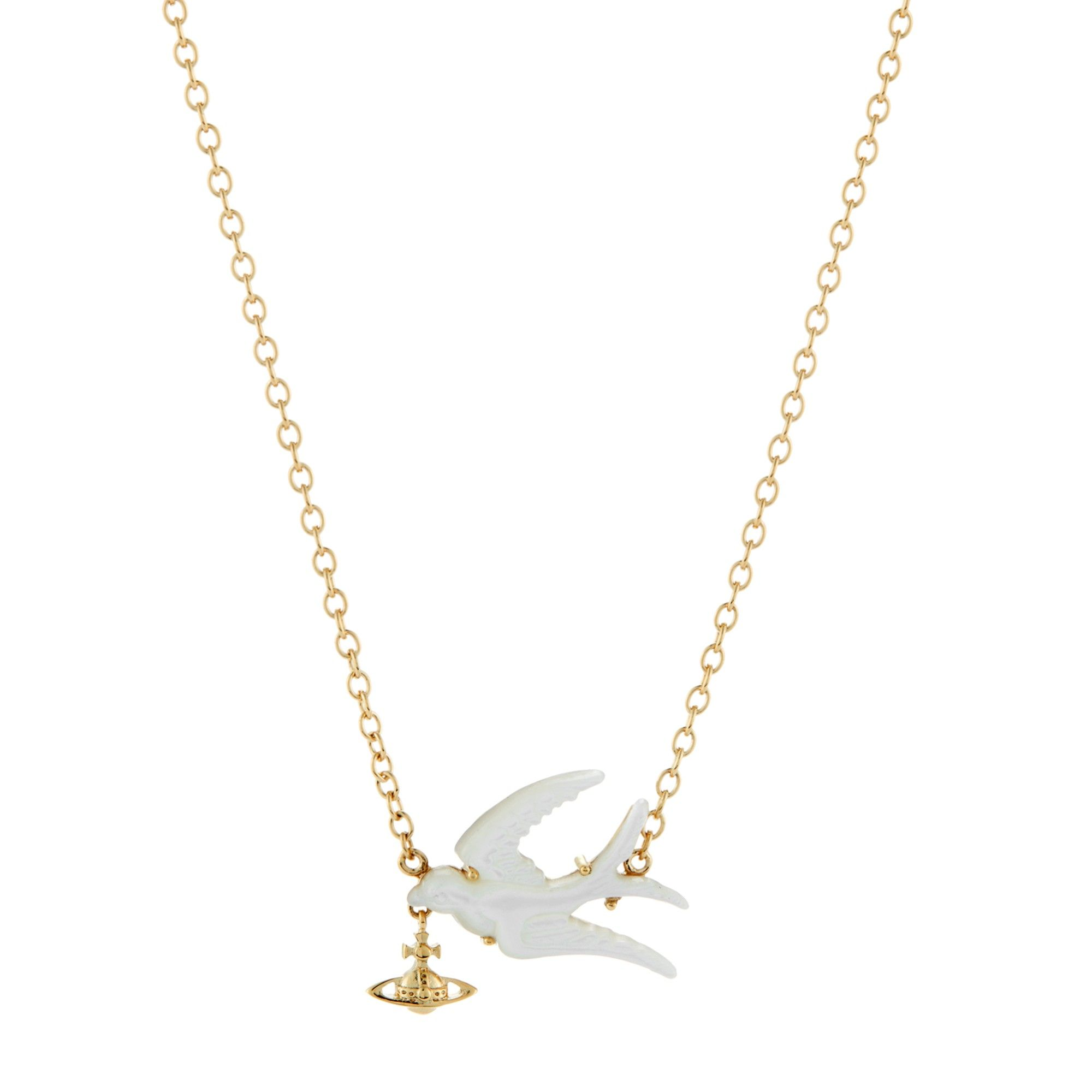 Paloma gold plated steel necklace With matching ring and bracelet