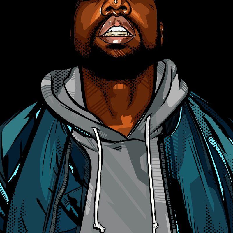 Kanye West Cartoon Kanye West Graduation Bear Cute Art Cartoon