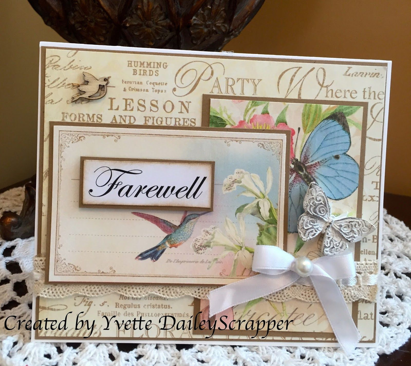 Scrapbook ideas goodbye - Farewell Card Using Graphic 45 Paper