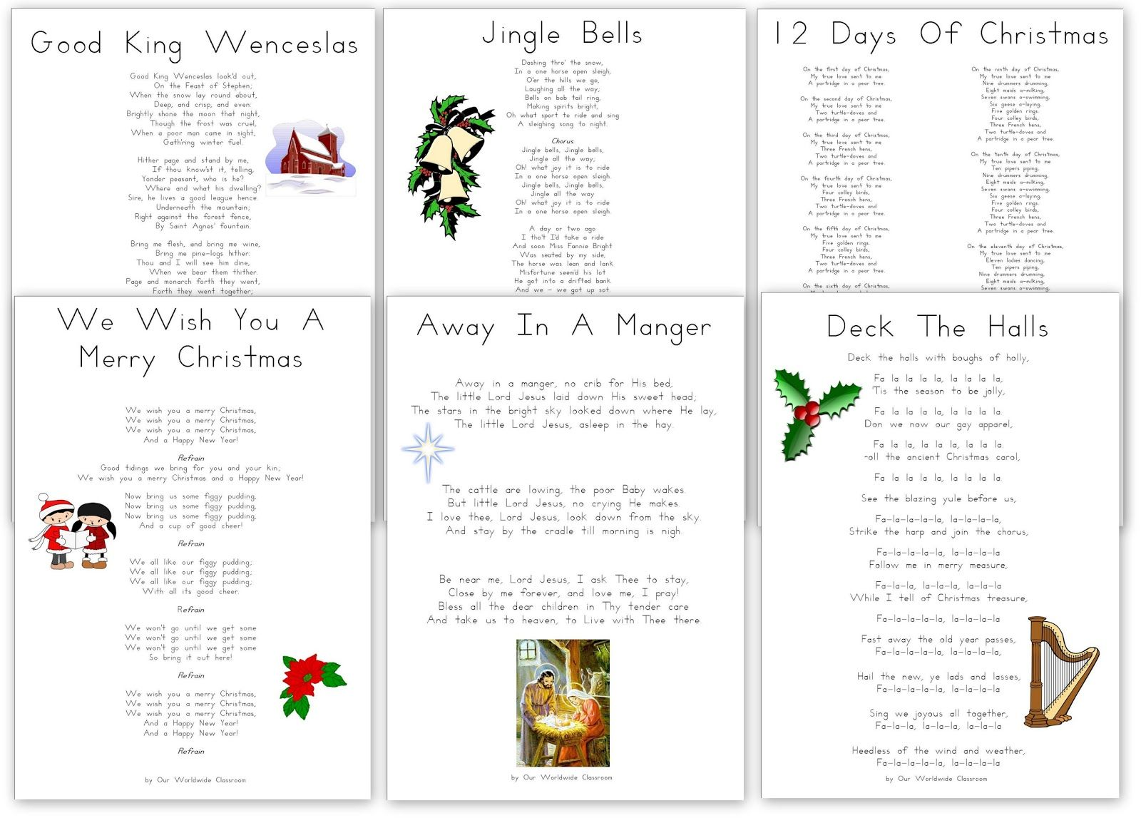 Uncategorized Christmas Carol Lyrics To Print 38 best games images on pinterest songs la and christmas ive started compiling our carols into booklets so i figured