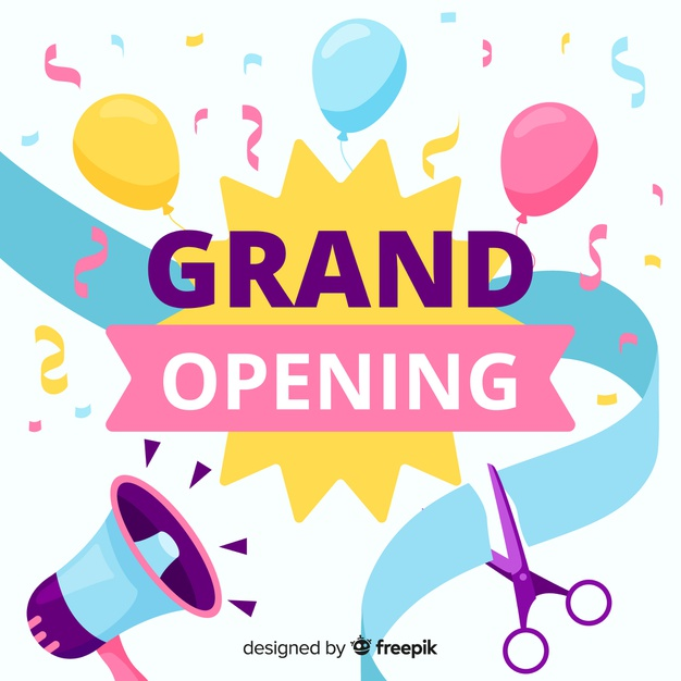 Download Grand Opening Background Flat Design For Free Grand Opening Design Vector Free