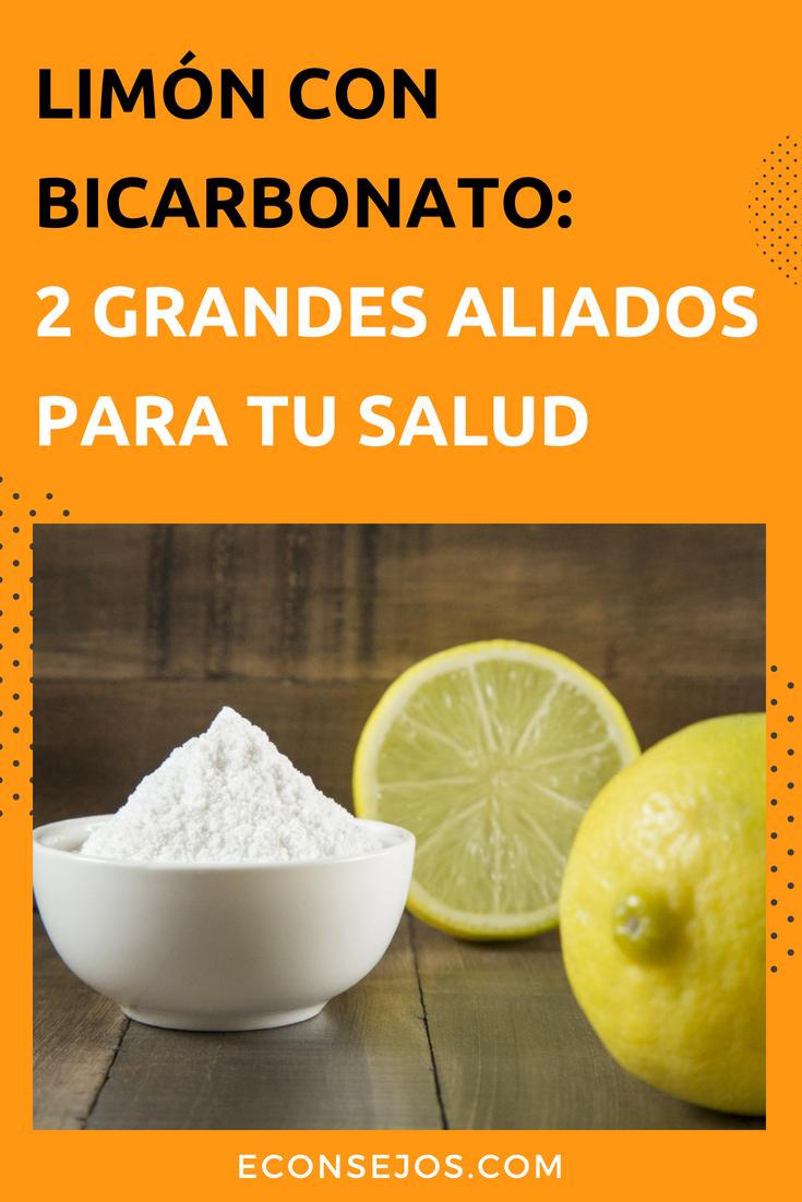 bicarbonato con limon propiedades