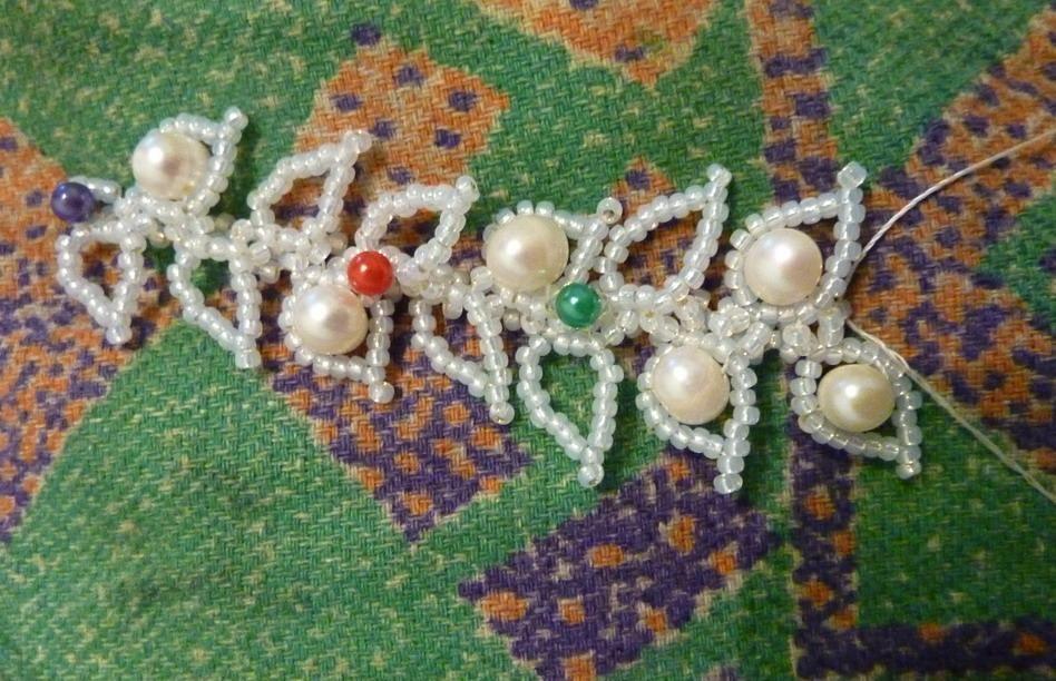 "Плетём колье ""Райский сад""   biser.info - всё о бисере и бисерном творчестве"