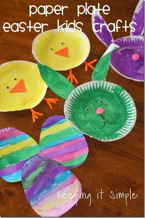 Easter Kids Craft Idea Paper Plate Animals