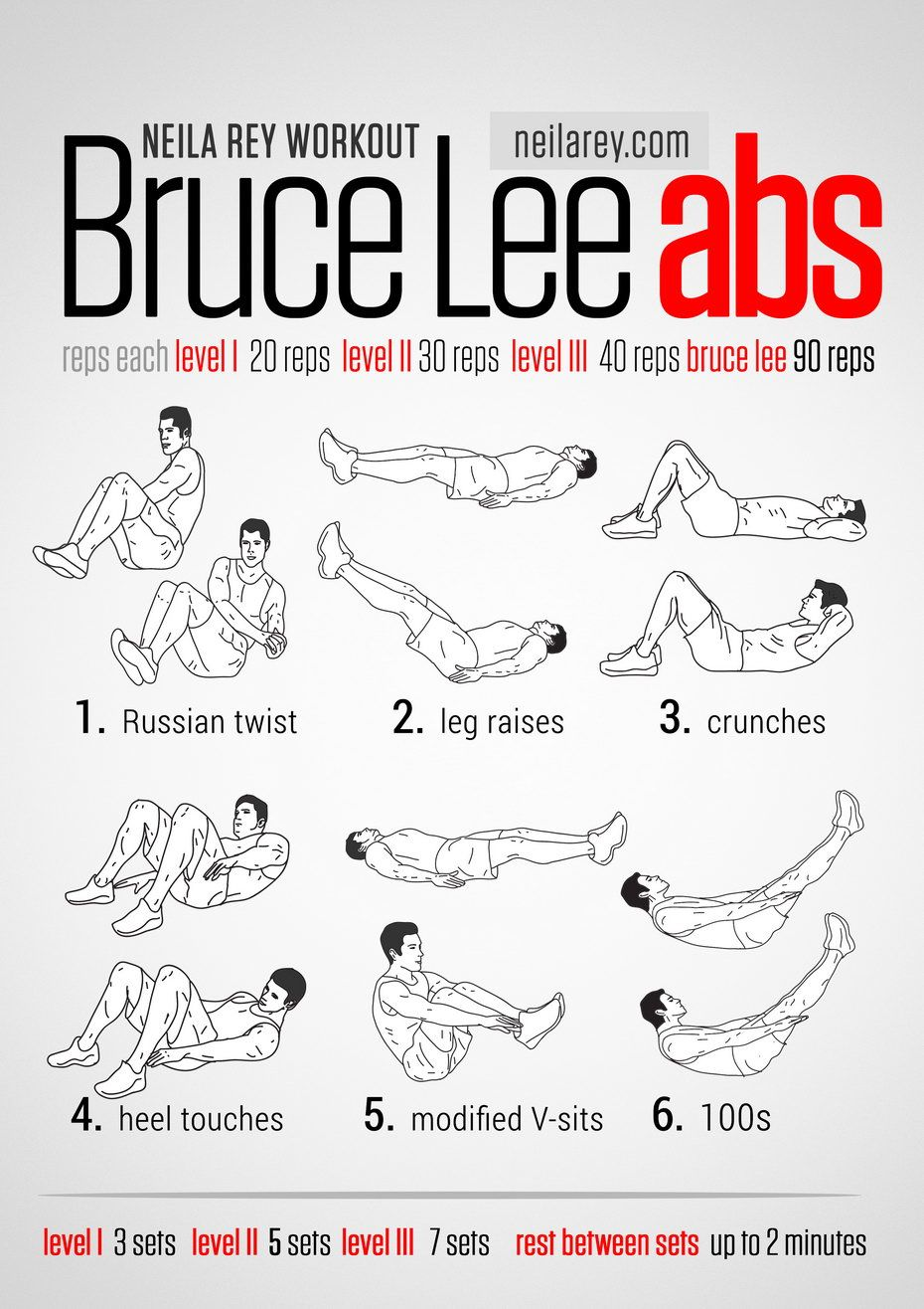 Bruce Lee Abs  Workout  Fitness challenges  Pinterest  Bruce lee