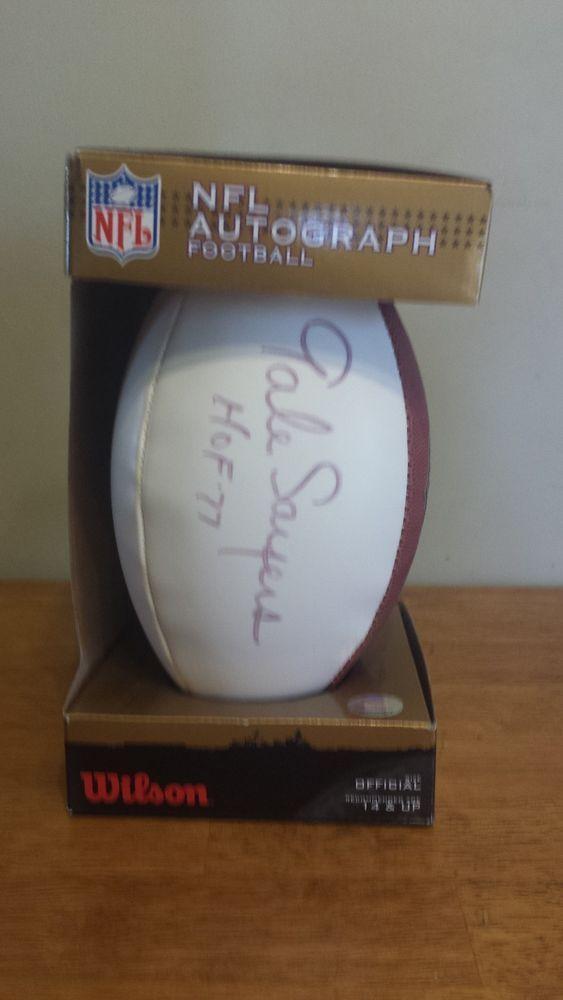 "NFL AUTOGRAPH FOOTBALL ""THE DUKE"" GALE SAYERS HOF 77 NWT IN THE BOX"