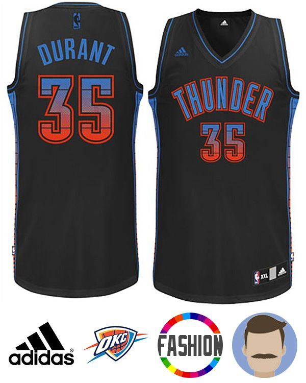 Honor your favorite NBA superstar in this Men s Adidas Oklahoma City Thunder   35 Kevin Durant Black 2015 Vibe New Swingman Fashion Jersey! The stitched-down  ... ab425d9ea