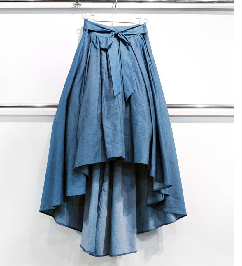 3d07e3dbf7 Gracia-Skirt-Denim High Low
