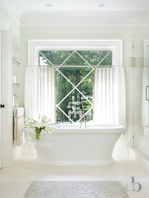 Master Bathroom Window Treatments