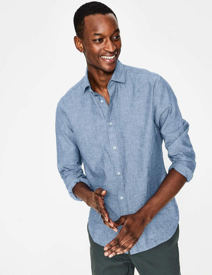 474dfe56c8 Boden Linen Cotton Shirt in 2019 | Products | Shirts, Cotton, Chambray