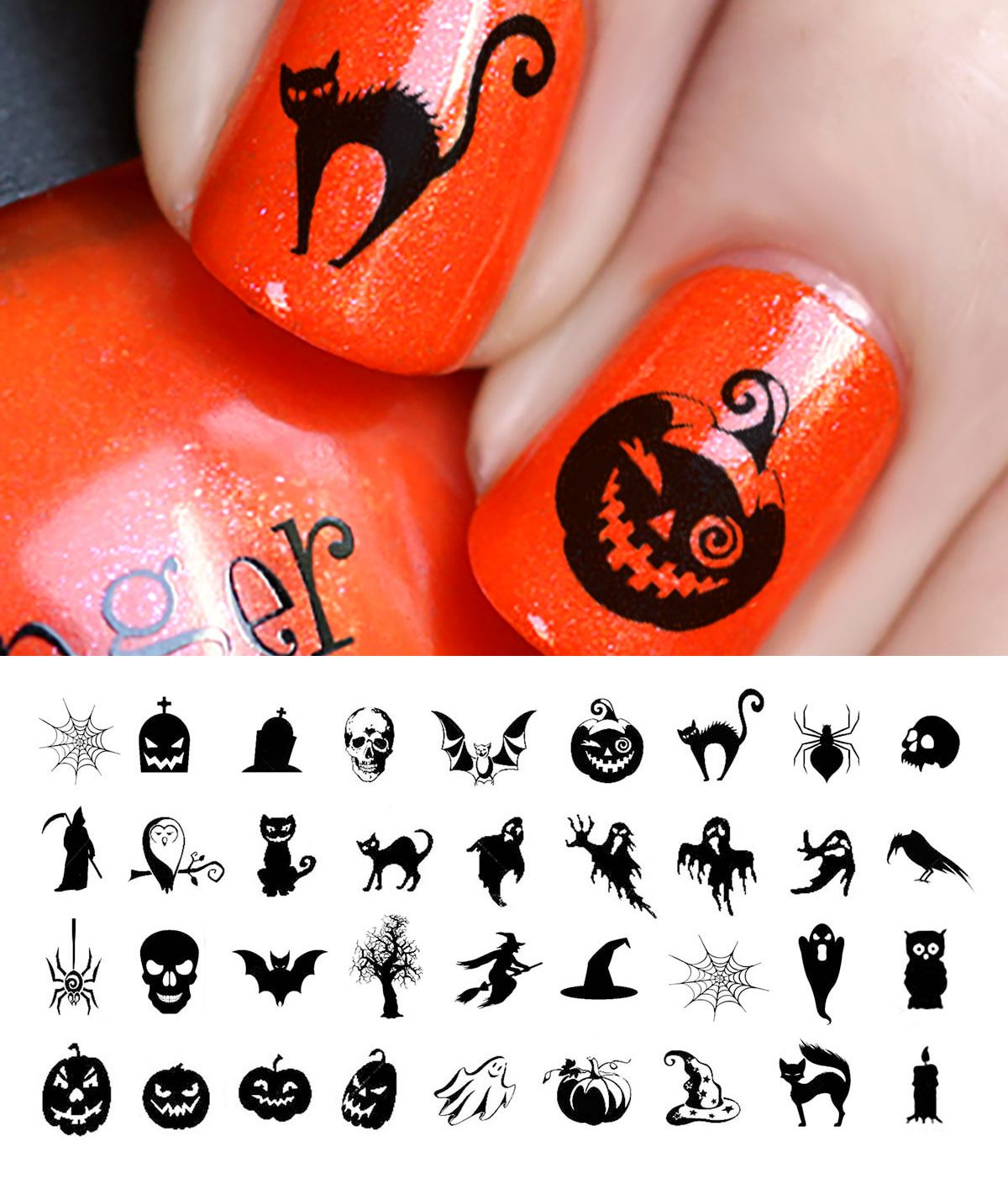Halloween Nail Art From Moonsugardecals Halloween Nail Art