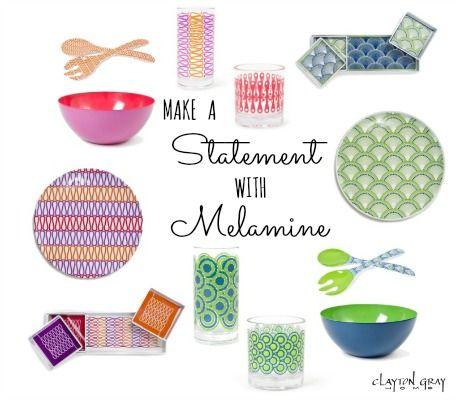 Make a Statement with Melamine | Preppy inspiration