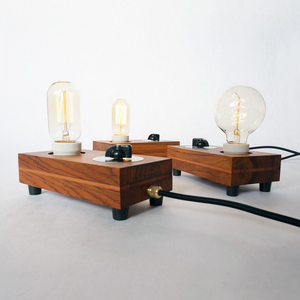 Nachttischlampe Mit Dimmer Lamp Knob Classic Table Lamp Made With Oiled Teak Wood Is