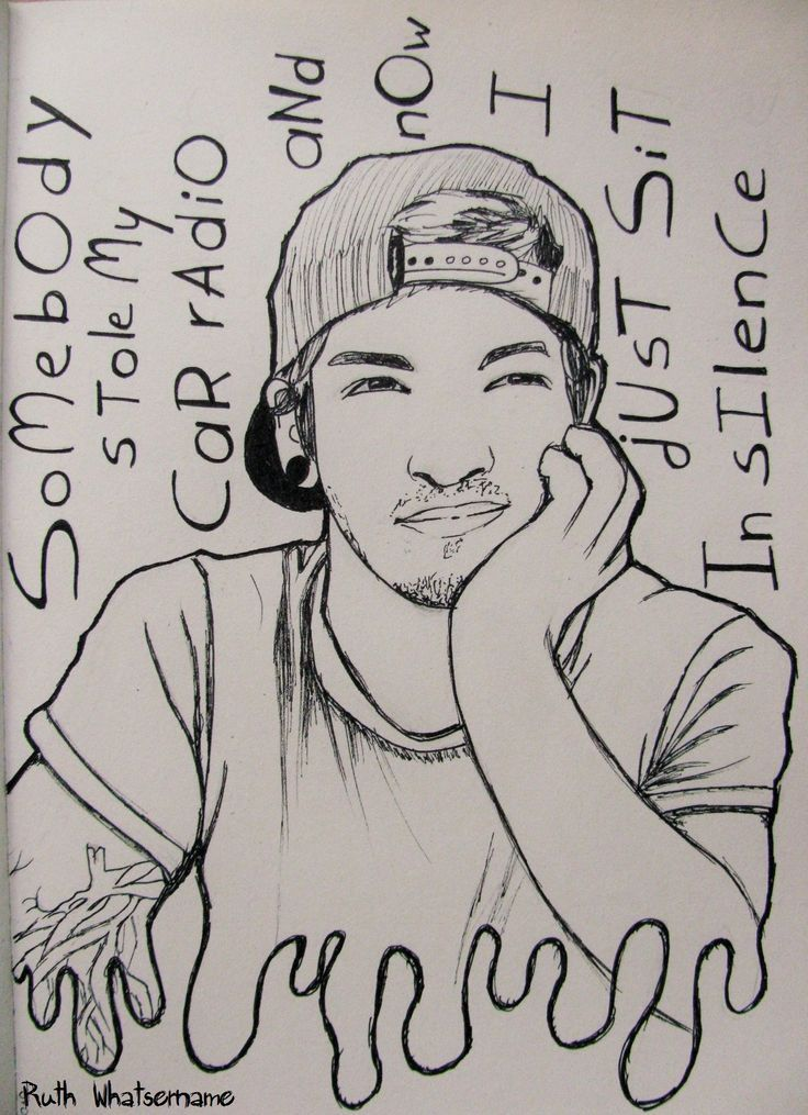 Kitchen Sink Twenty One Pilots Drawing i decided to pin this drawing of josh dun the drummer of my