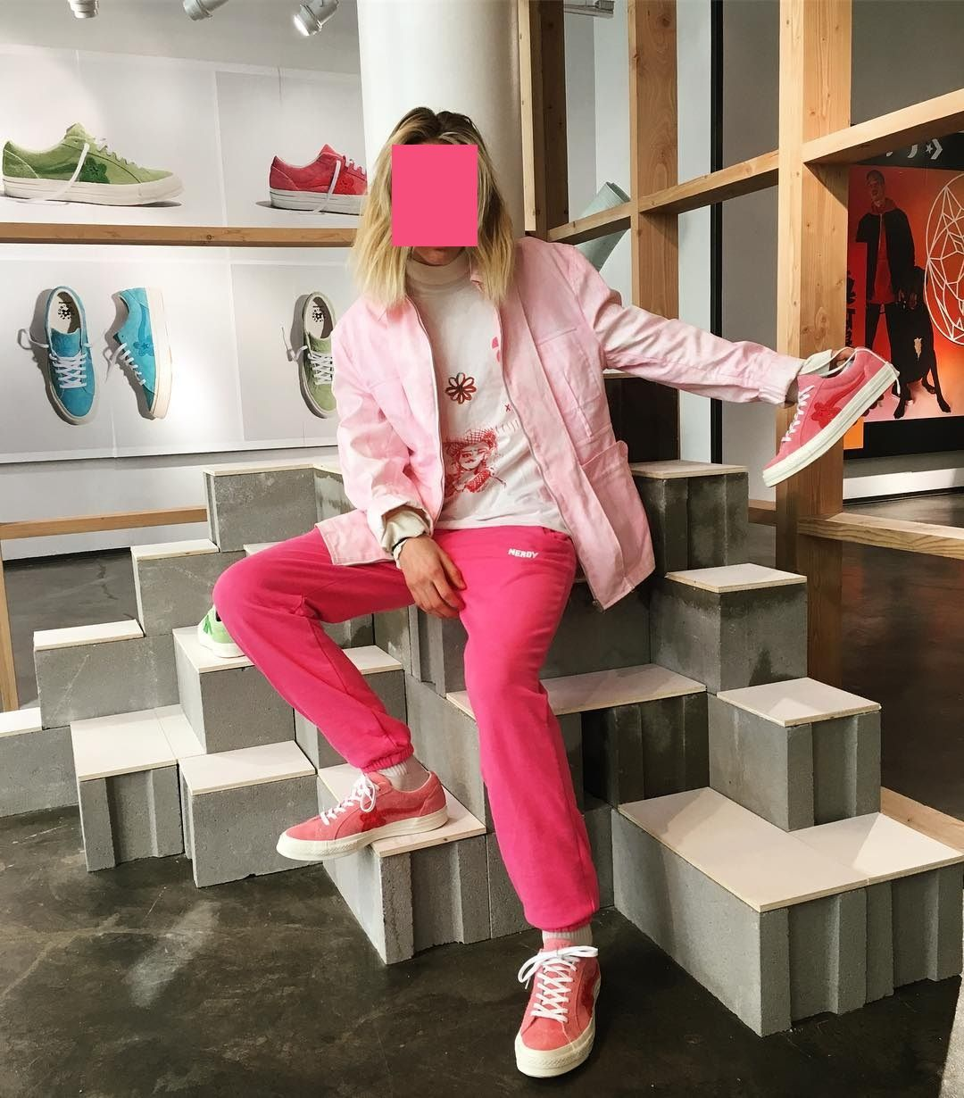 Full Pink Outfit X Tyler The Creator Converse Golf Le Fleur Outfits Pink Shoes Outfit Urban Fashion
