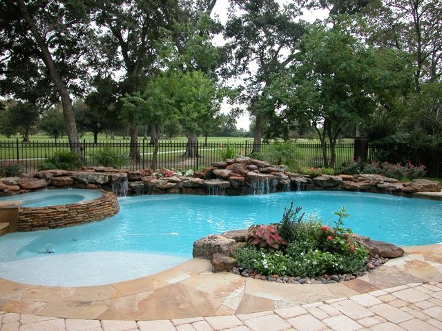 Natural Setting Pool With Table Rock Waterfall And Weeping Wall Swimming Pools To Dive For