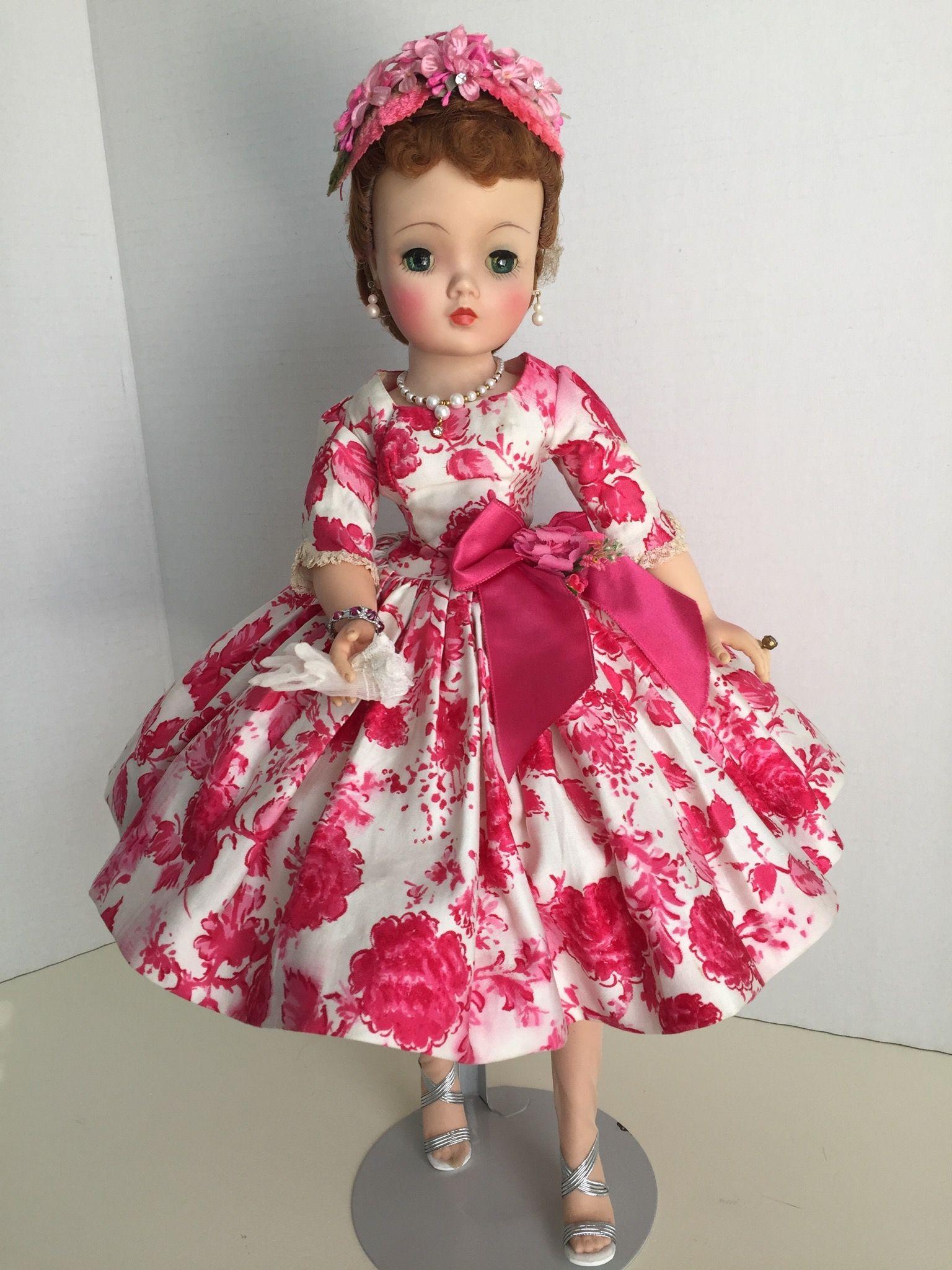 1958 camellia print dress | Other DOLLS | Pinterest | Muñecas y ...