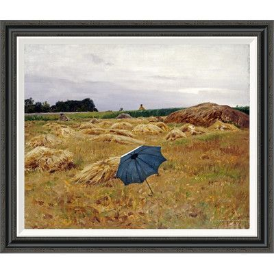 """Global Gallery 'The Blue Umbrella' by Charles Sprague Pearce Framed Painting Print Size: 30.66"""" H x 36"""" W"""
