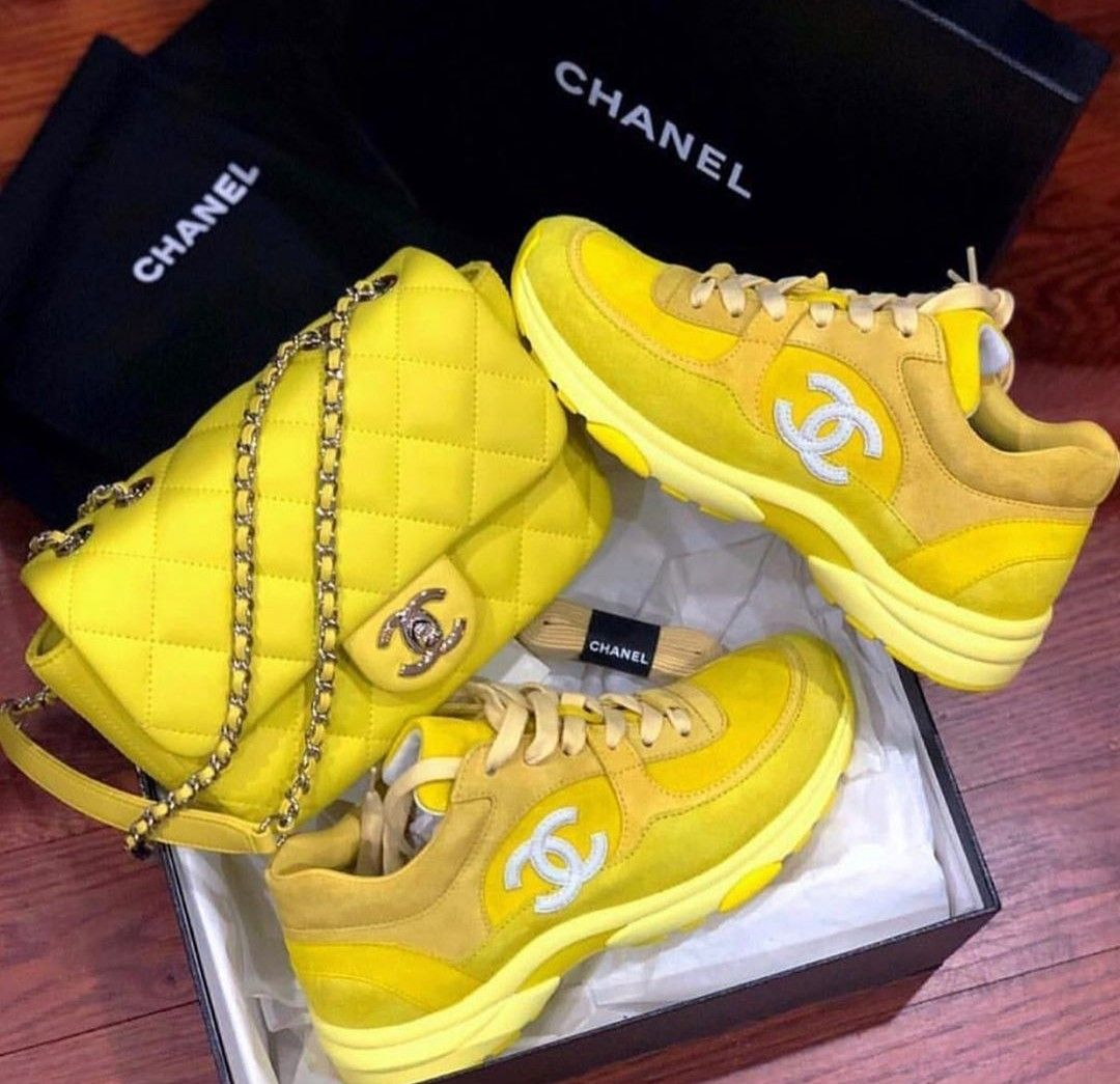 Yellow Chanel 💛 | Sneakers, Shoes